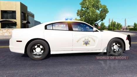 Dodge Charger Police в траффике для American Truck Simulator