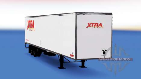 Цельнометаллический полуприцеп Xtra Lease для American Truck Simulator