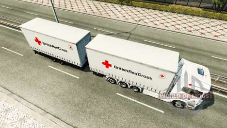 Scania R730 Tandem British Red Cross для Euro Truck Simulator 2