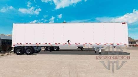 Цельнометаллический полуприцеп со скинами для American Truck Simulator