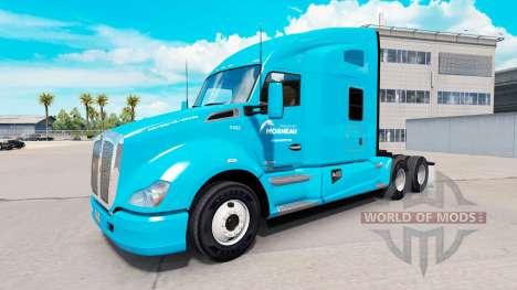 Скин Transport Morneau на тягач Kenworth для American Truck Simulator