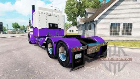 Скин Purple and White на тягач Peterbilt 389 для American Truck Simulator