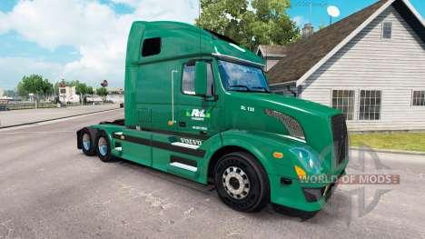 Скин R-L Carriers на тягач Volvo VNL 670 для American Truck Simulator