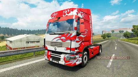 Скин Klanatrans на тягач Renault для Euro Truck Simulator 2