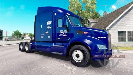 Скин Uncle D Logistics на тягач Peterbilt для American Truck Simulator