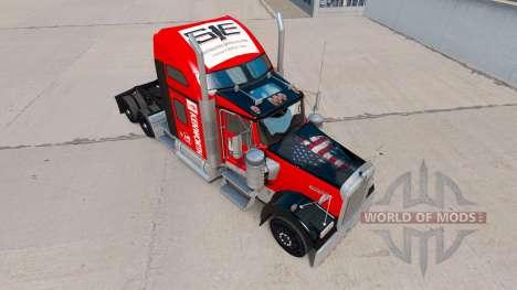 Скин Southeastern на тягач Kenworth W900 для American Truck Simulator