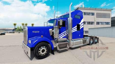 Скин White Castle на тягач Kenworth W900 для American Truck Simulator