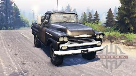 Chevrolet Apache 1959 v3.0 для Spin Tires