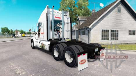 Скин Rambo на тягач Peterbilt для American Truck Simulator