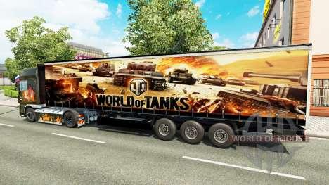 Скин World of Tanks на полуприцепы для Euro Truck Simulator 2