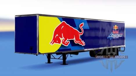 Цельнометаллический полуприцеп Red Bull для American Truck Simulator