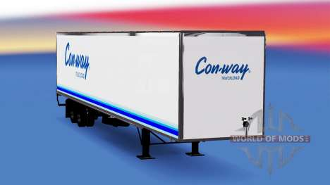 Цельнометаллический полуприцеп Conway для American Truck Simulator