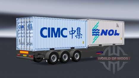 Полуприцепы контейнеровозы v1.1 для American Truck Simulator