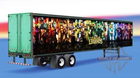 Цельнометаллический полуприцеп League of Legends для American Truck Simulator