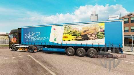 Скин BUGA 2015 на полуприцепы для Euro Truck Simulator 2