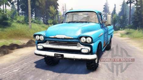 Chevrolet Apache 1959 v4.0 для Spin Tires