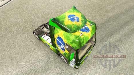 Скин Brasil 2014 на тягач Renault для Euro Truck Simulator 2