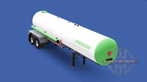 Скин Praxair на топливный полуприцеп для American Truck Simulator