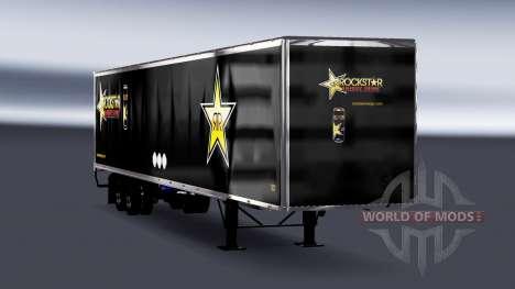 Цельнометаллический полуприцеп Rockstar Energy для American Truck Simulator