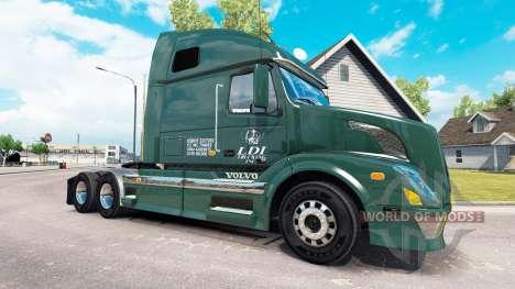Скин LDI Services на тягач Volvo VNL 670 для American Truck Simulator