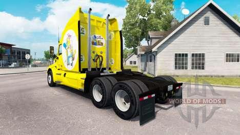 Скин Simpsons на тягач Peterbilt для American Truck Simulator