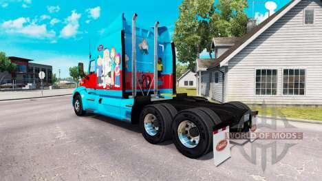 Скин Family Guy на тягач Peterbilt для American Truck Simulator