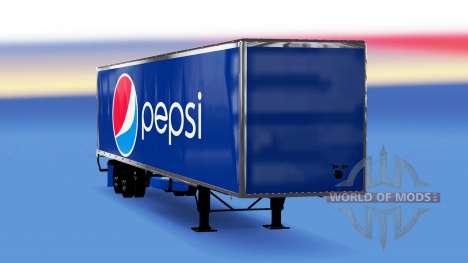 Цельнометаллический полуприцеп Pepsi для American Truck Simulator
