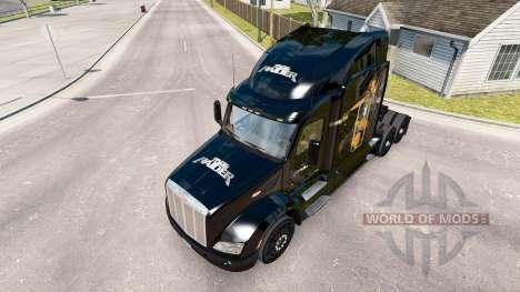 Скин Lara Croft Tomb Raider на тягач Peterbilt для American Truck Simulator
