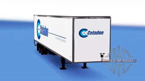 Скин Celadon на полуприцеп для American Truck Simulator