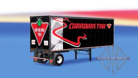 Цельнометаллический полуприцеп Canadian Tire для American Truck Simulator