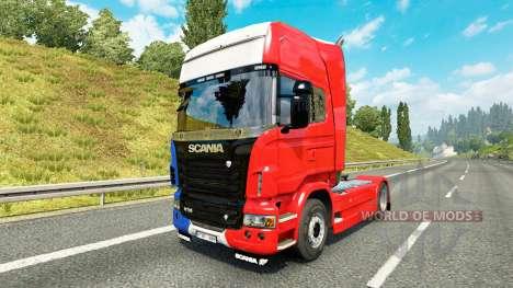 Скин France на тягач Scania для Euro Truck Simulator 2
