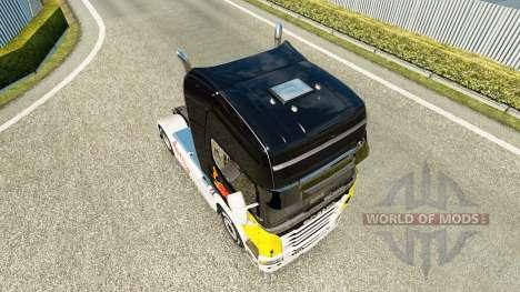 Скин Red Bull на тягач Scania для Euro Truck Simulator 2