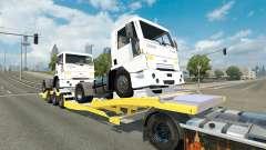 Низкорамный трал с тягачами Ford Cargo