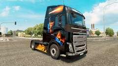 Скин Fire на тягач Volvo
