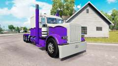 Скин Purple and White на тягач Peterbilt 389