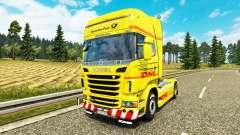 Скин DHL на тягач Scania