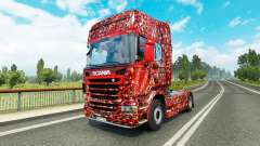 Скин Coca-Cola Bubbles на тягач Scania