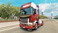 Скин Chile Copa 2014 на тягач Scania