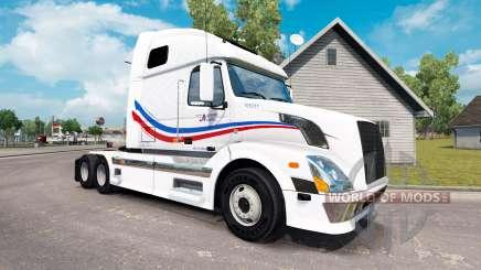 Скин Jacques Auger на тягач Volvo VNL 670 для American Truck Simulator