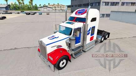 Скины NFL на тягач Kenworth W900 для American Truck Simulator