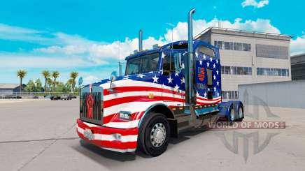Скин USA Flag на тягач Kenworth T800 для American Truck Simulator