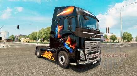 Скин Fire на тягач Volvo для Euro Truck Simulator 2