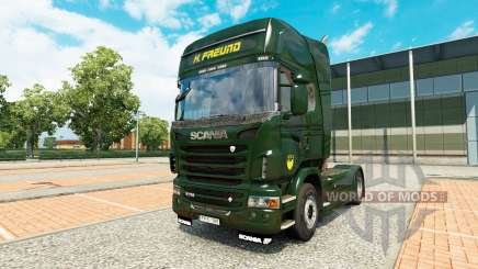 Скин H. Freund на тягач Scania для Euro Truck Simulator 2