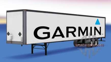 Цельнометаллический полуприцеп Garmin для American Truck Simulator