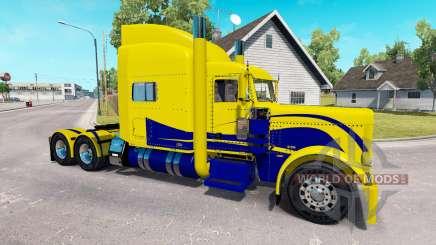 Скин Yellow and Blue на тягач Peterbilt 389 для American Truck Simulator