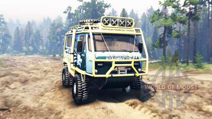 УАЗ-3909 v2.0 для Spin Tires