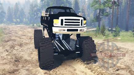 Ford F-350 [black rock] для Spin Tires