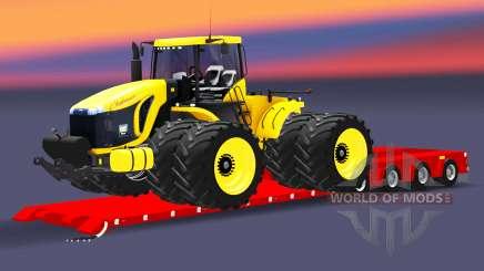 Низкорамный трал Doll с грузом трактора для Euro Truck Simulator 2