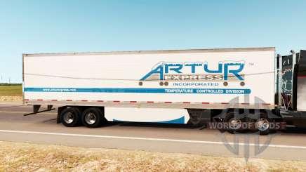 Скин Artur Express на полуприцеп для American Truck Simulator