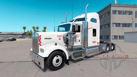 Скин Heartland Express [white] на тягач Kenworth для American Truck Simulator